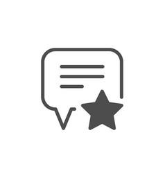 feedback or testimonials glyph icon vector image