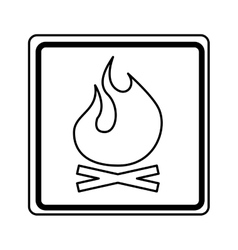 fire flame sign isolated icon vector image