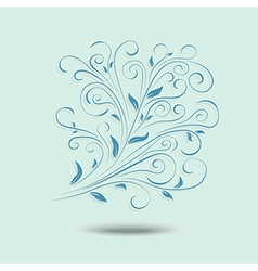 Floral design element ornamental background vector