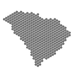 Football ball south carolina state map mosaic vector
