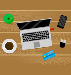 freelancer work place top view vector image