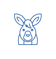 funny hare line icon concept funny hare flat vector image