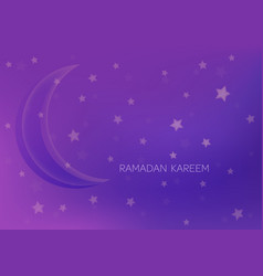 greeting card with moon and stars for ramadan vector image