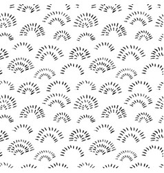 hand drawn doodle arches seamless pattern vector image