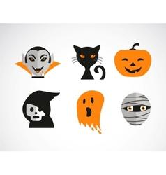 Happy Halloween set vector image