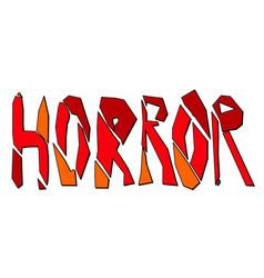 Horror - multicolored inscription vector