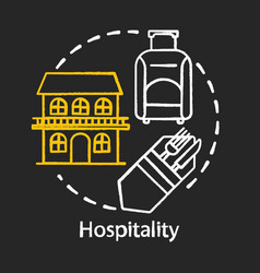Hospitality chalk concept icon lodging industry vector