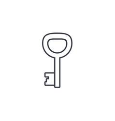 Key thin line icon linear symbol vector