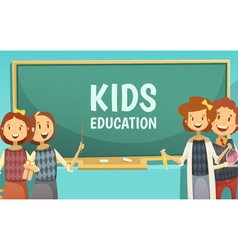 Kids Primary Education Cartoon Poster vector image