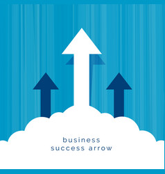 Leadership business concept with arrow flying vector