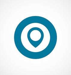 map pin bold blue border circle icon vector image