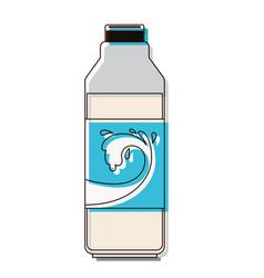 milk bottle icon in watercolor silhouette vector image
