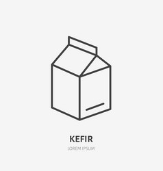 Milk box flat logo kefir icon dairy product vector
