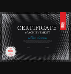 modern lines certificate template vector image