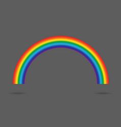 modern rainbow gradient isolated on gray vector image