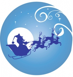 moon and Santa Clause vector image