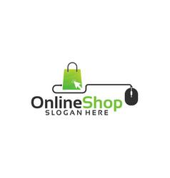Online shop logo designs template vector