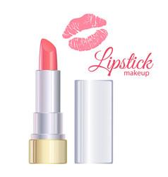 open pink lipstick vector image