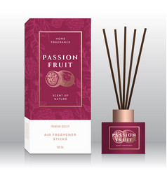 Passion fruit home fragrance sticks abstract vector