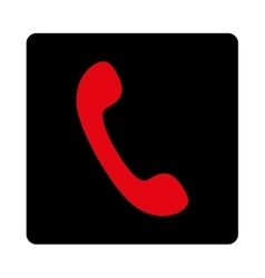 Phone flat intensive red and black colors rounded vector