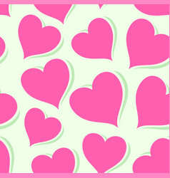 Pink hearts on bright background vector