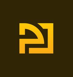 Pj letter logo icon design jp monogram vector