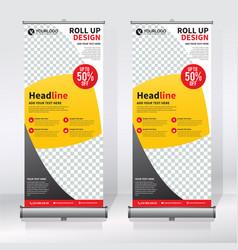 roll up banner vertical design template banner vector image
