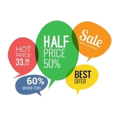 Sale and discounts speech bubbles vector image