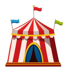 Shapito circus icon cartoon style vector