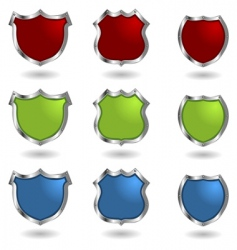 shields with rivets vector image