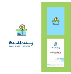 shopping creative logo and business card vertical vector image