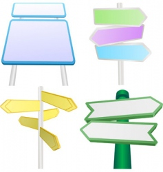 Signs and signposts vector