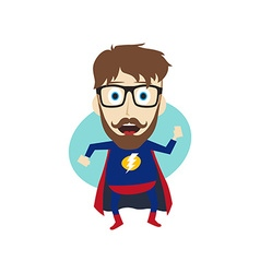 superhero cartoon vector image