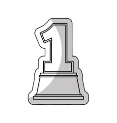 trophy number one award isolated icon vector image