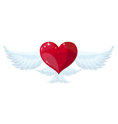 winged heart flying vector image