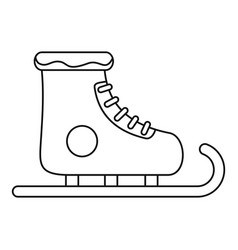winter skates icon outline style vector image