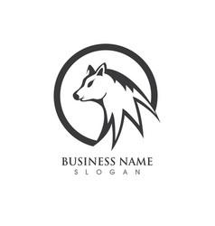 wolf logo template design vector image