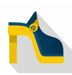 Women shoe icon flat style vector