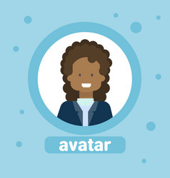 african american female avatar business woman vector image vector image