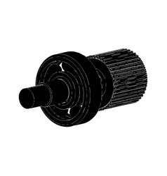 cogwheel and bearing vector image
