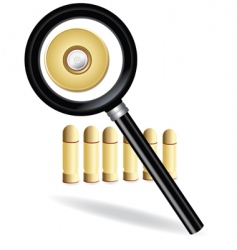 magnifying and bullet vector image vector image