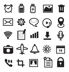 Mobile Phone and Application Icons Set vector image vector image
