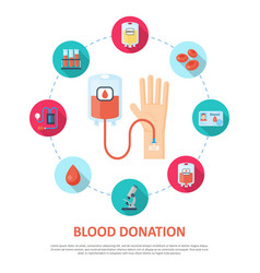 blood donation template vector image