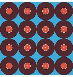 Flat Seamless Background Pattern Music Vinyl Disc vector image