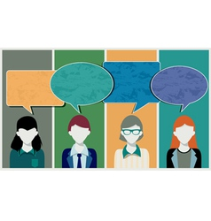 Messages from Staff vector image vector image