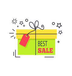 special offer promo sticker shopping packed box vector image