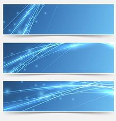 Speed swoosh electric wave lines header set vector image