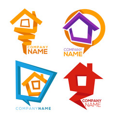 buy your own home collection of property vector image vector image