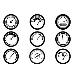 gauge icons vector image