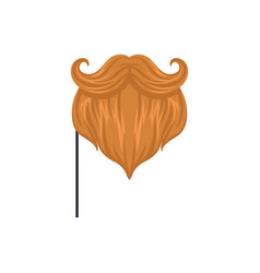 red mustaches and beard masquerade decorative vector image